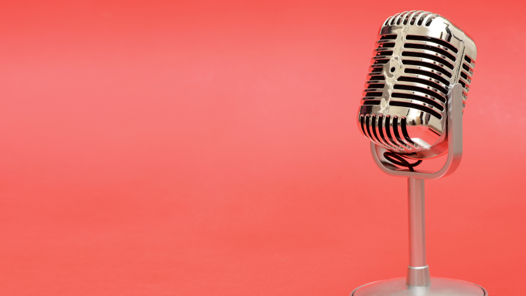 Picture of a microphone.